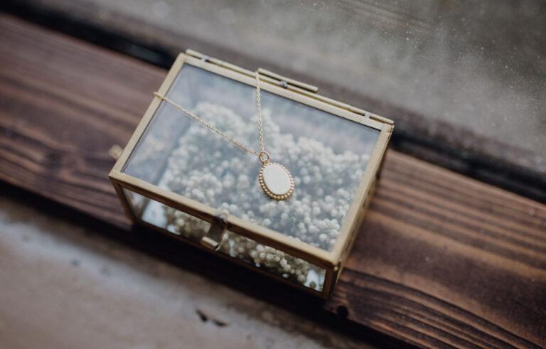 Boho Coin Oval Kette Gold für Hochzeit