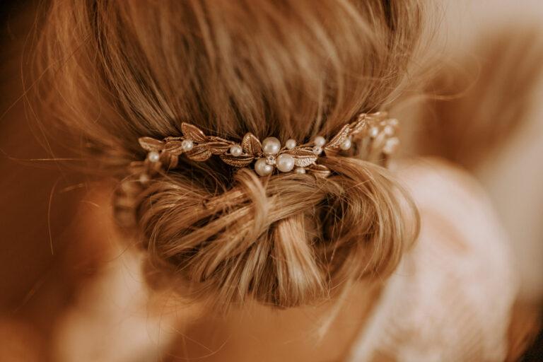 Boho Haarschmuck Gold Braut Hochzeit