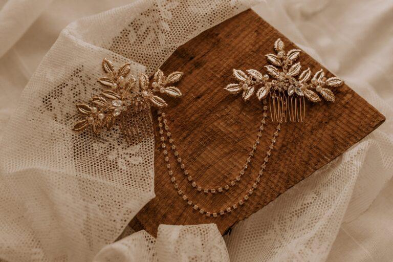 Boho Kopfschmuck Gold mit Blätter Kette