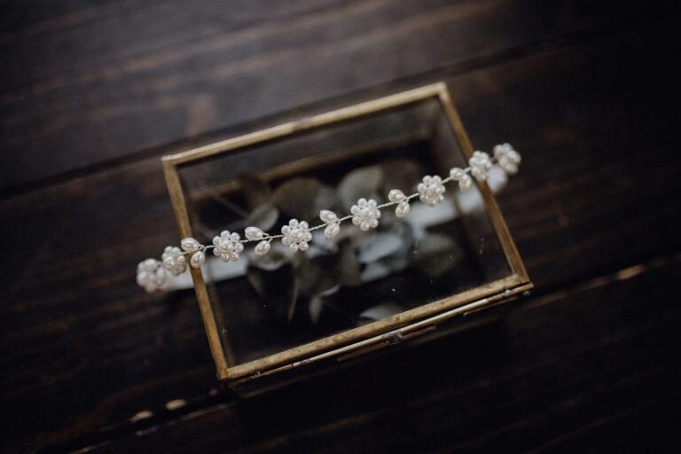 Braut Strumpfband Perlen