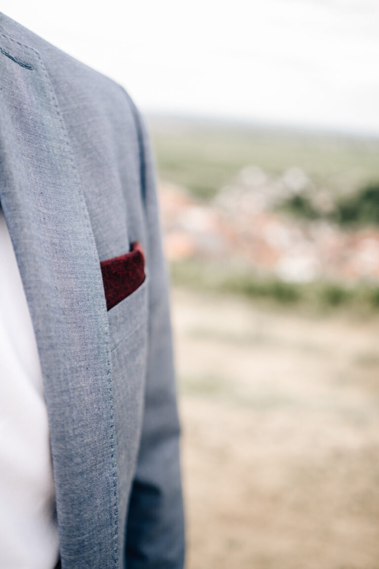 Einstecktuch für Anzug in weinrot
