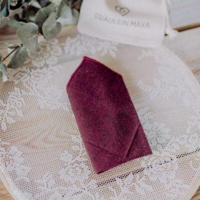 Einstecktuch für Herren in weinrot passend zur Hochzeit