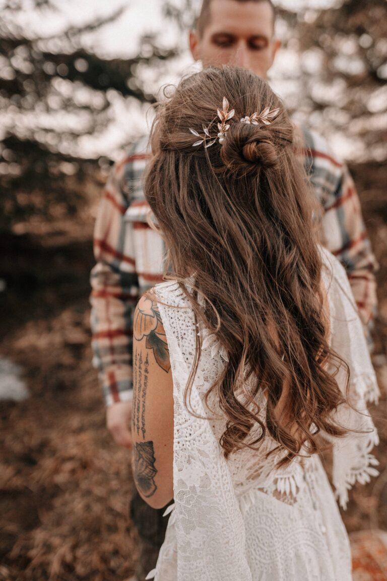 Gold Haarnadeln Braut Blätter