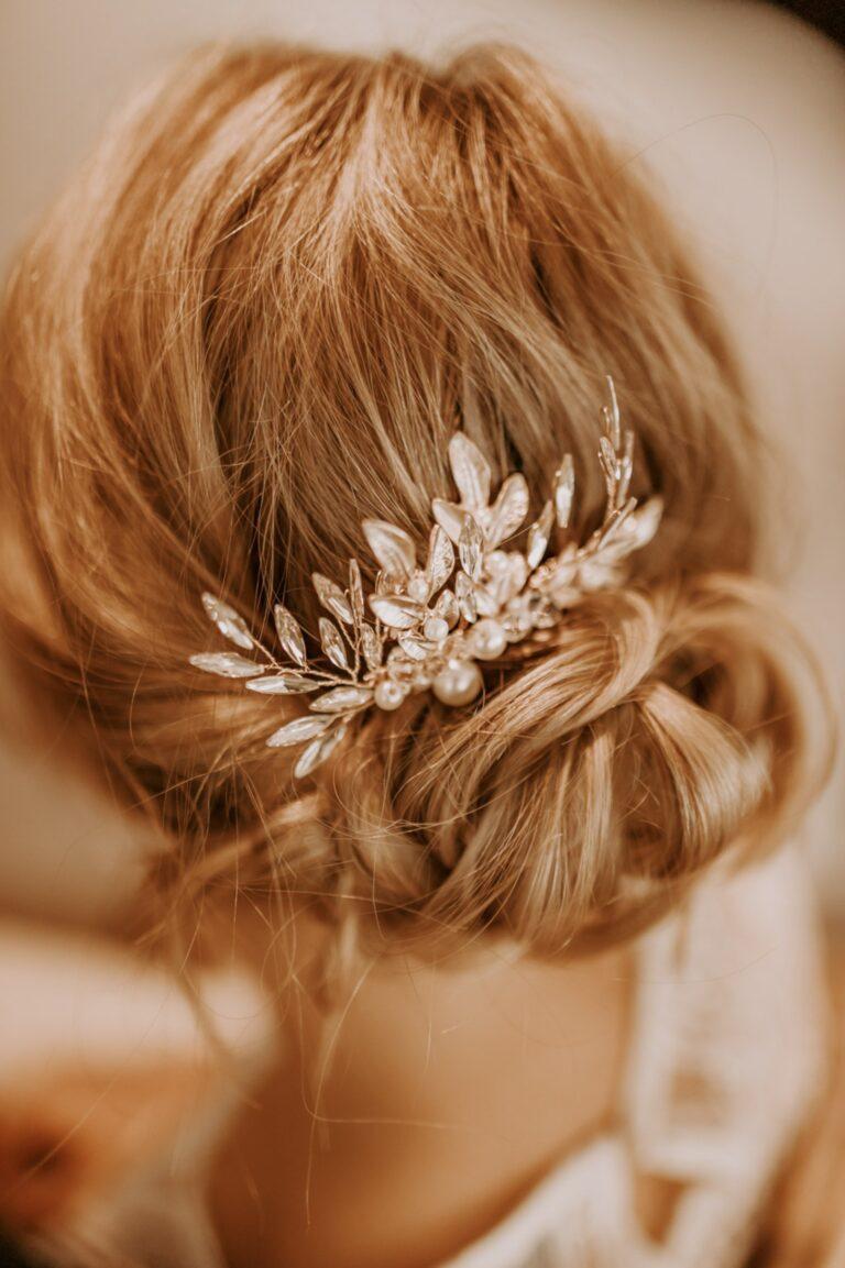 Goldener Haarkamm Boho Lock Hochzeit Braut