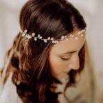 Braut Haarschmuck mit Süßwasserperlen Gold