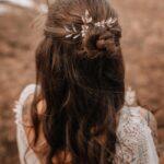 Haarnadeln Braut Gold mit Blätter (2 Stück)