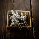 Braut Haarnadeln Silber (2 Stück)