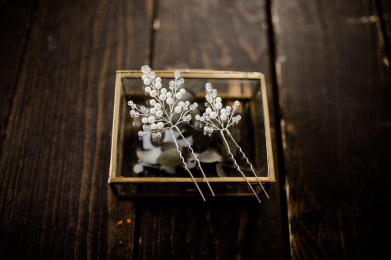 Haarnadeln Braut Silber