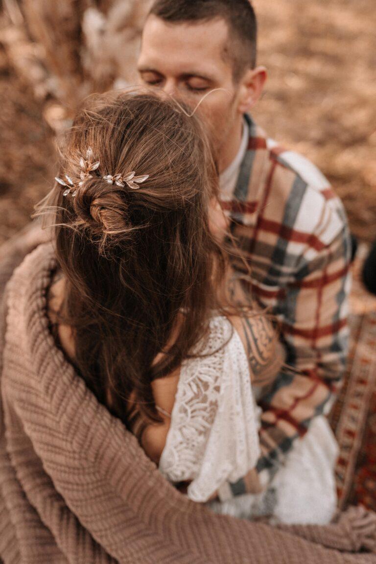 Haarnadeln Gold Braut Blätter Freie Trauung Boho