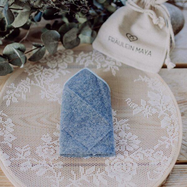 Herreneinstecktuch blau perfekt für den Bräutigam