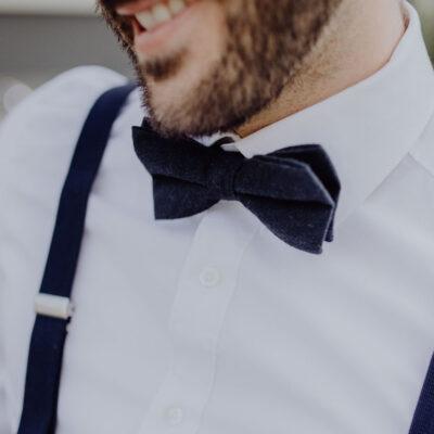 Herrenfliege Herrenhosenträger in dunkelblau für besondere Anlässe passend