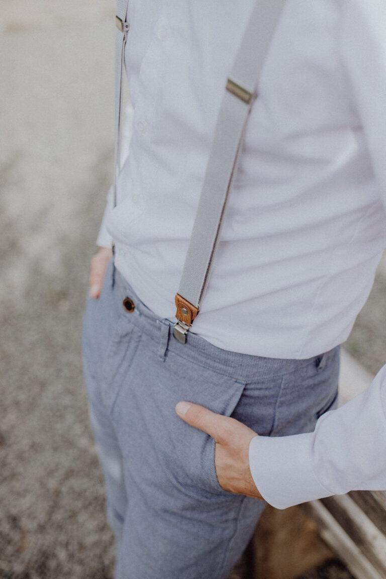 Herrenhosenträger hellgrau passend zu vielen Outfits