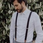 Herrenhosenträger schwarz Standesamt Bräutigam