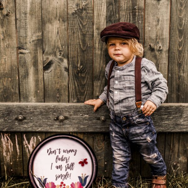 Herzensbrecher Junge Outfit Hosenträger Braun