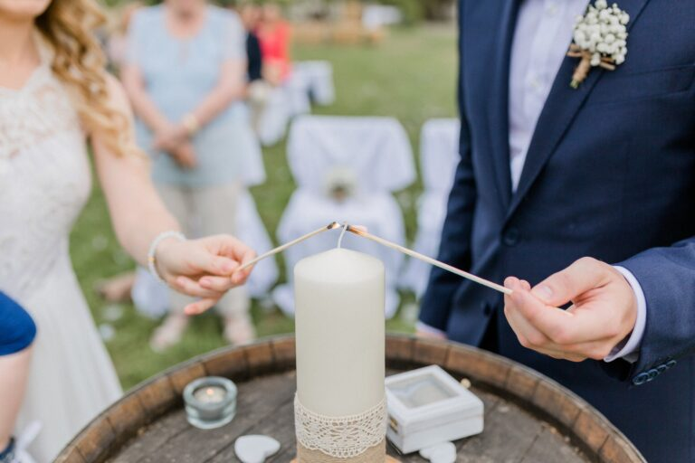 Hochzeit Kerze