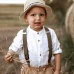 Kinderhosenträger khaki - inklusive Gravur