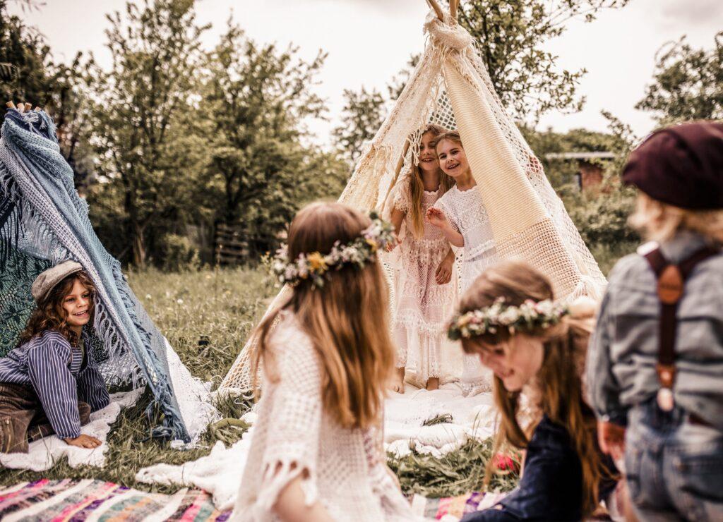 Kinderbetreuung für Blumenkinder