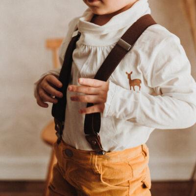 Kinderhosenträger Braun Malina Tragebild vorne