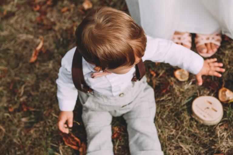 Kinderhosenträger Braun Pius Hochzeit