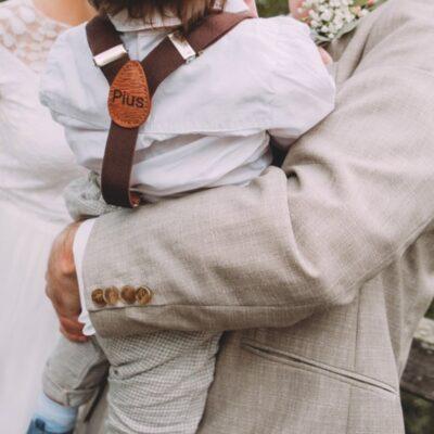 Kinderhosenträger Braun Pius Tragebild
