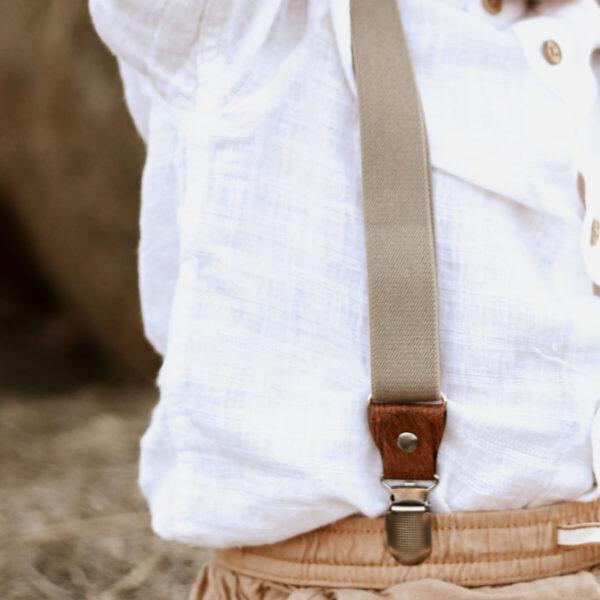 Kinderhosenträger Sandfarben Beige