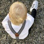 Kinderhosenträger schwarz/weiß - inklusive Gravur