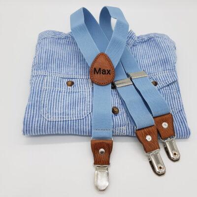 Kinderhosentraeger hellblau Max