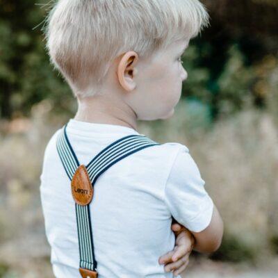 Kinderhosenträger schwarz weiss Leon