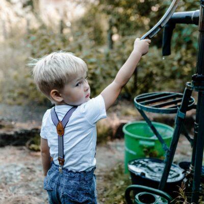 Kinderhosenträger schwarz weiss Leon Brunnen