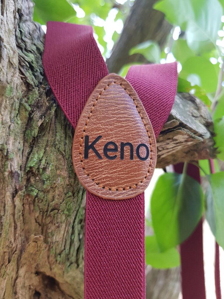 Kinderhosentraeger weinrot Keno