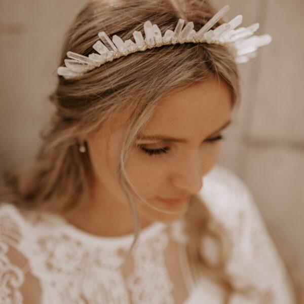 Kristall Kopfschmuck Braut Boho