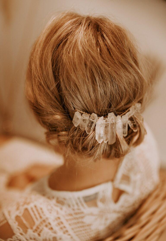 Kristall Kopfschmuck Braut Haarkamm