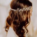 Braut Haarschmuck mit Kristallperlen Gold