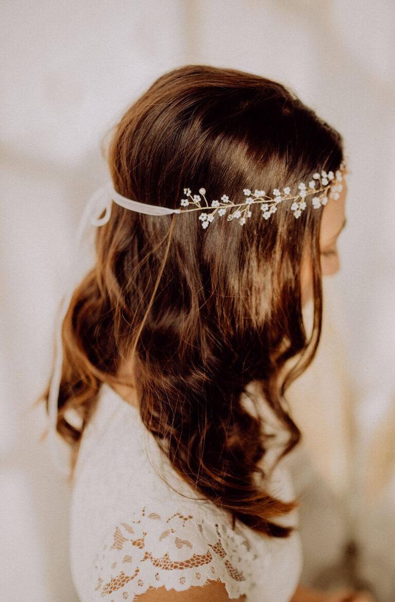 Kristallperlen Gold Boho Vintage Wedding Haarschmuck