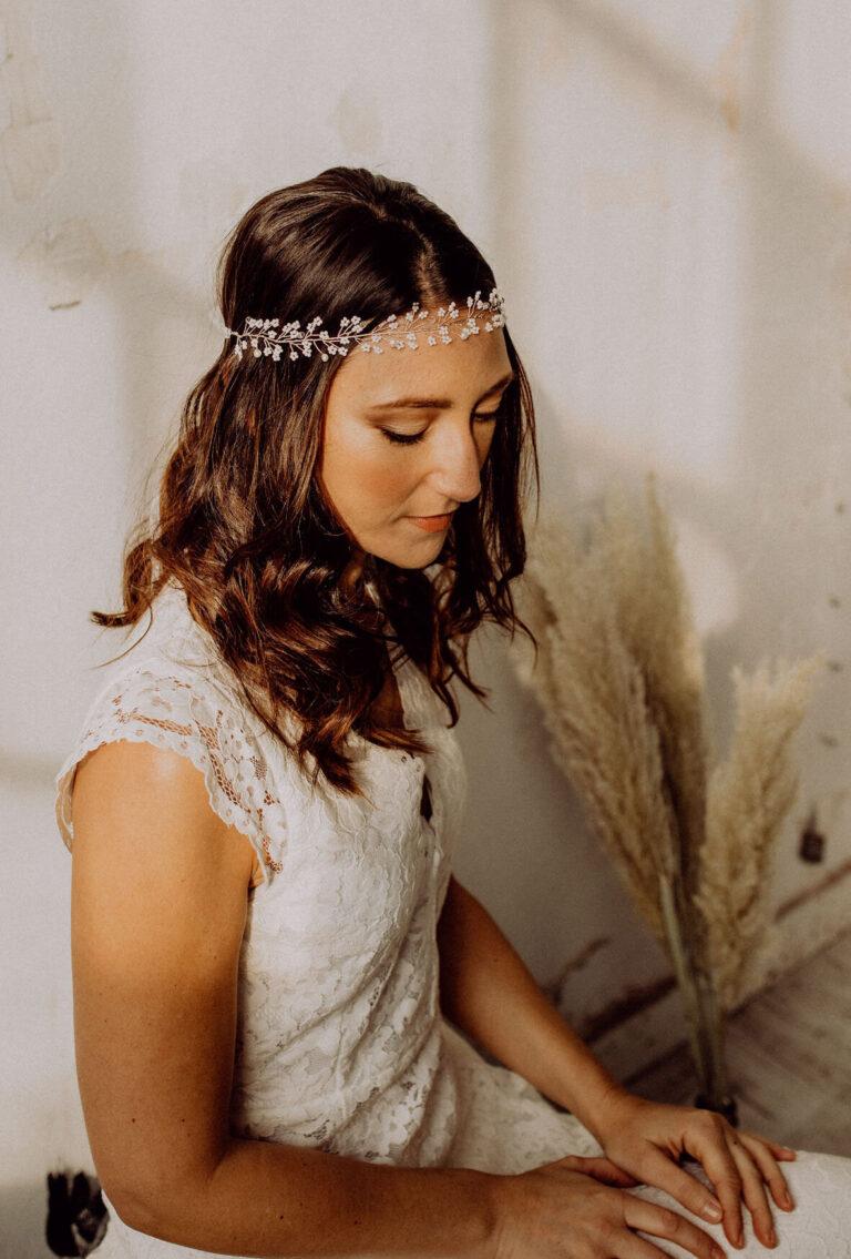 Kristallperlen Silber für die Braut Standesamt oder Wedding Hochzeit