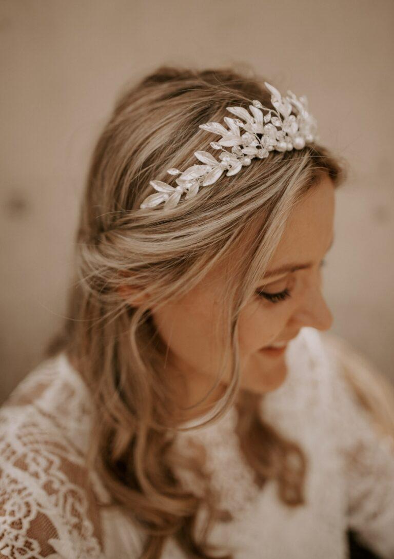 Krone Braut Silber