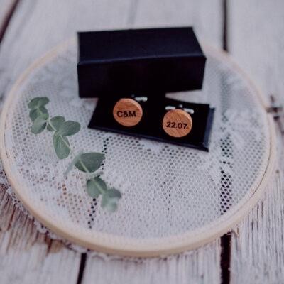 Manschettenknöpfe personalisiert perfekt als Geschenk geeignet