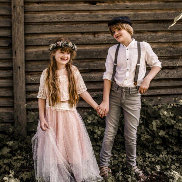 Partnerlook Mädchen Junge Hosenträger