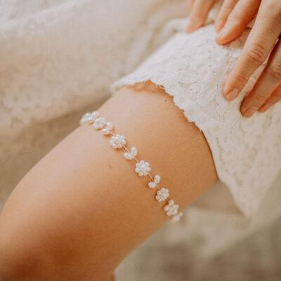 Perlen Strumpfband Boho Vintage Wedding Hochzeit