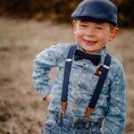 Schiebermütze Junge dunkelblau