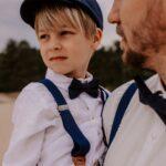 Kinderhosenträger dunkelblau - inklusive Gravur