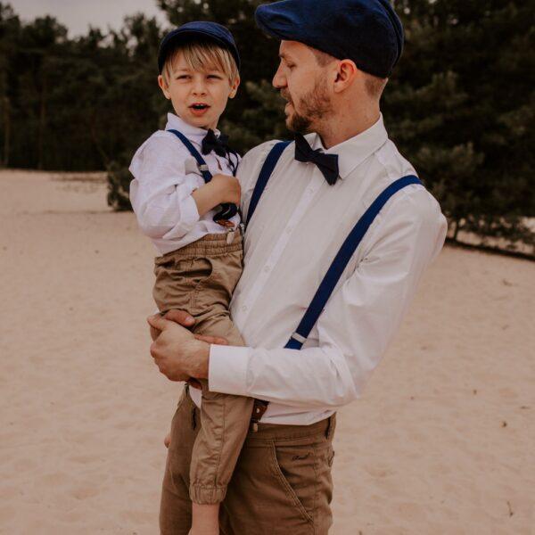 Schirmmütze Schiebermmütze Vater Sohn dunkelblau