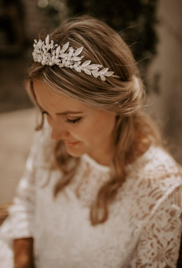 Silberner Haarschmuck Braut