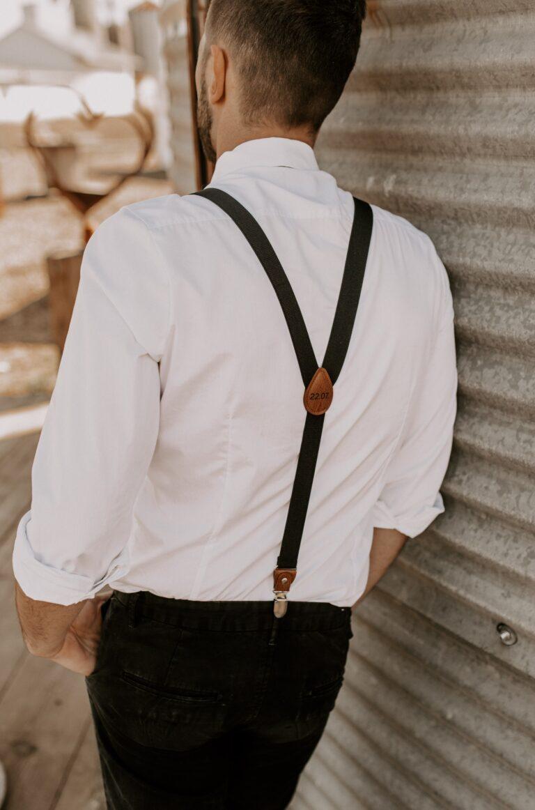 Unikate Hosenträger mit Gravur schwarz