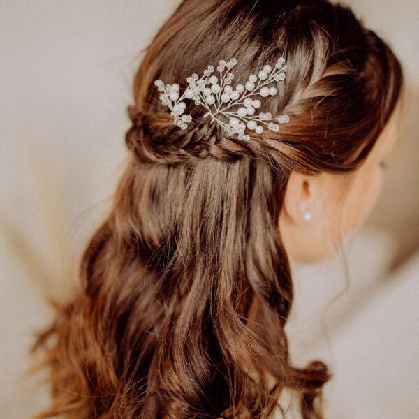 Vintage Boho Hochzeit Wedding Haarnadeln Silber