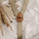 Hosenträger beige Herren - inklusive Gravur