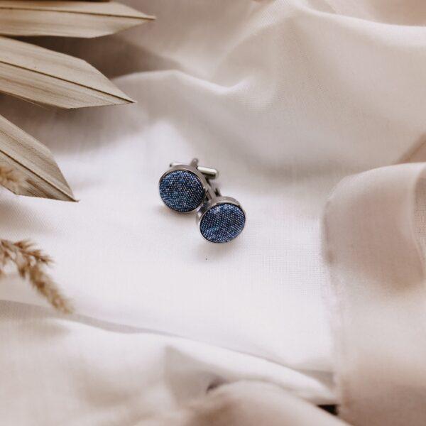 blaue Manschettenknöpfe