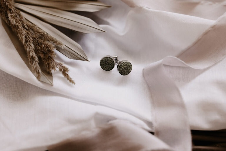 khaki Manschettenknöpfe aus Stoff